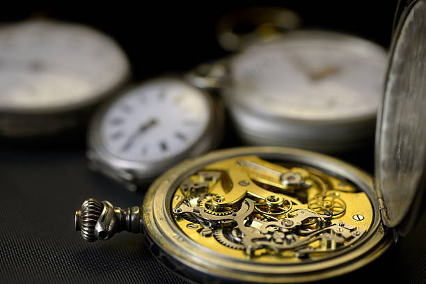 old watch four stock photo