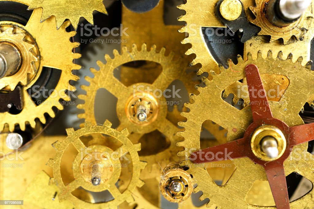 Old watch mechanism royalty-free stock photo