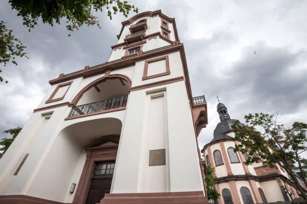 alte uhr turm mannheim deutschland - mannheim uni stock-fotos und bilder
