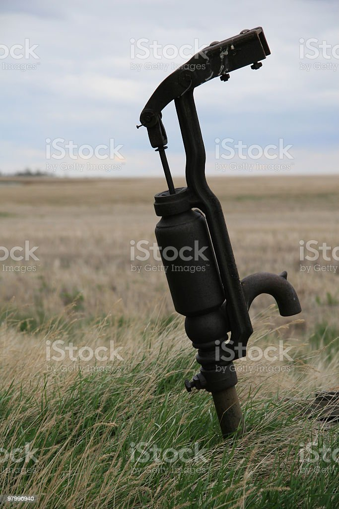 old water pump royalty free stockfoto