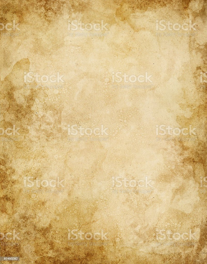 Old Water Stained Paper stock photo