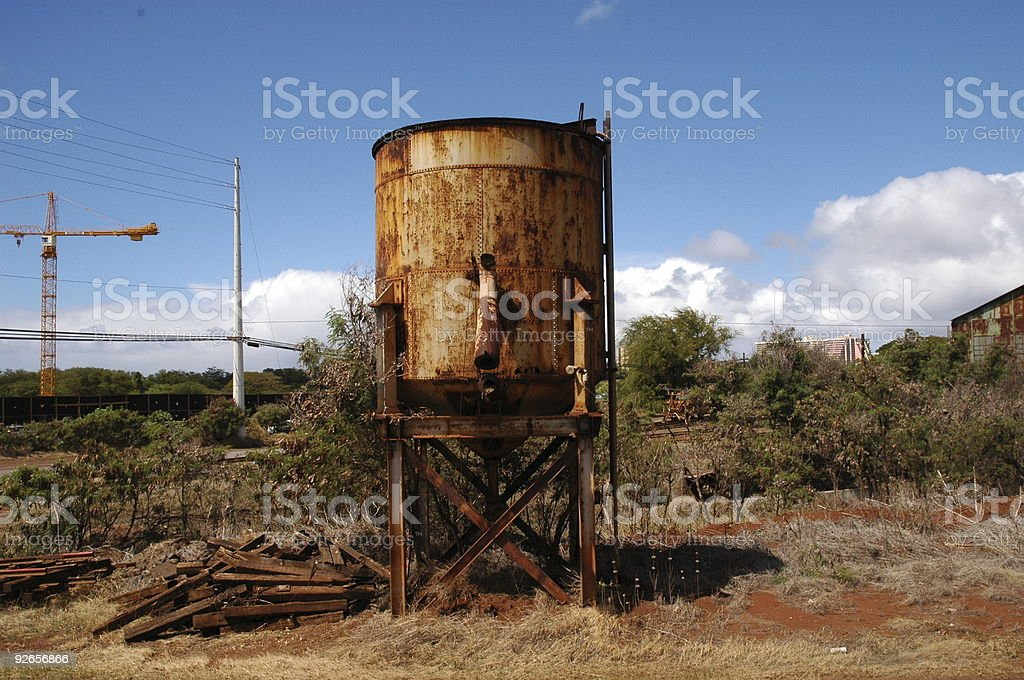 Old Water Tank royalty-free stock photo