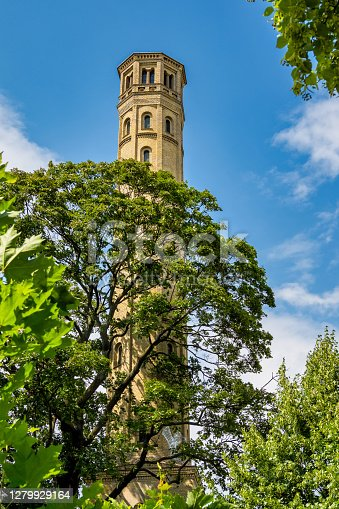 old water tower in berlin, prenzlauer berg in germany