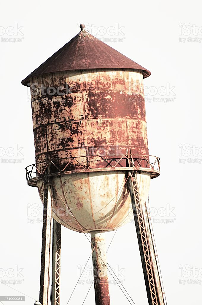 old water tower royalty-free stock photo