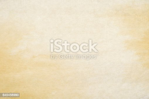 istock Old watercolor paper background 645458990