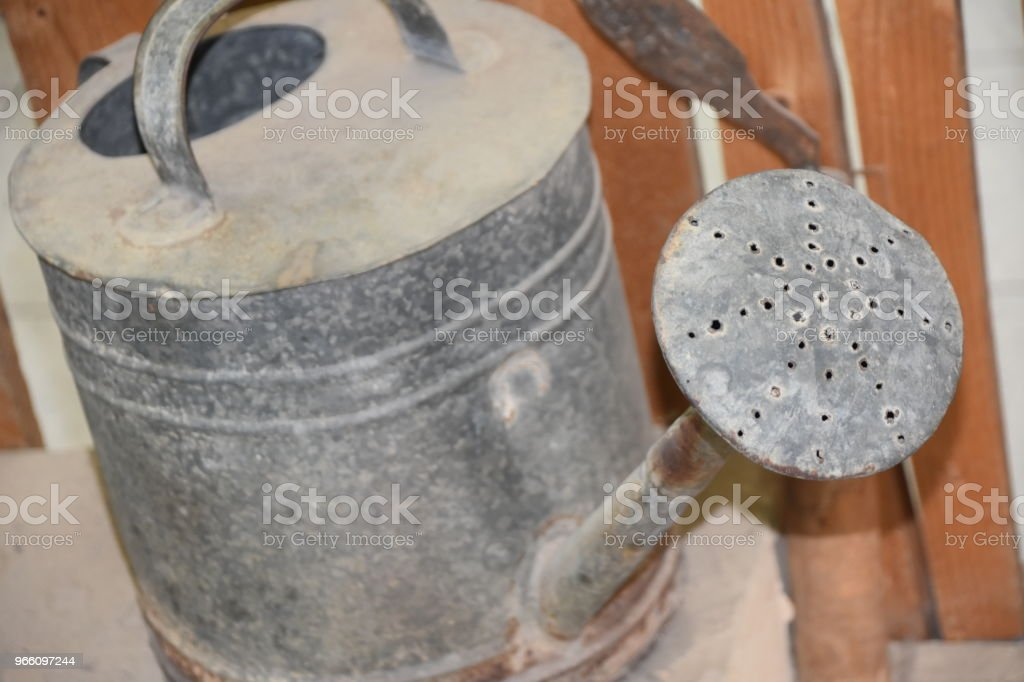 Oude watering can - Royalty-free Activiteit Stockfoto