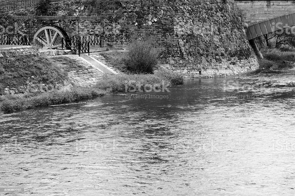 old watermill in durbuy belgian stock photo