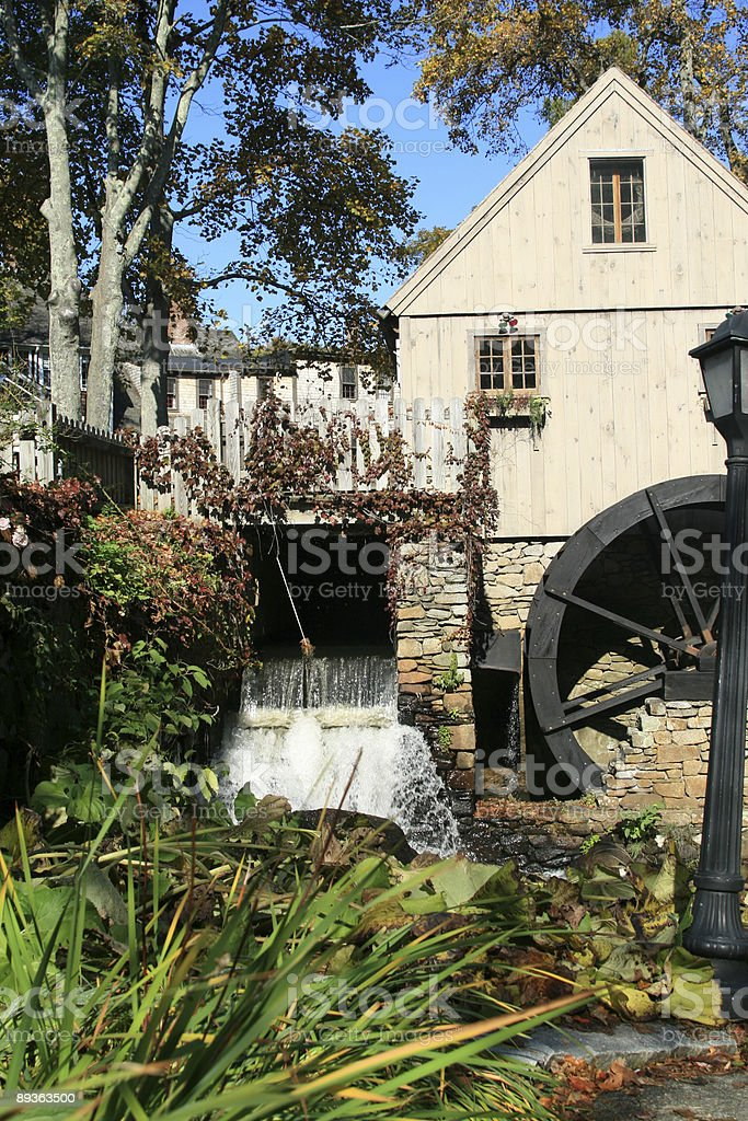 Old Watermill in Plymouth, MA royalty-free stock photo