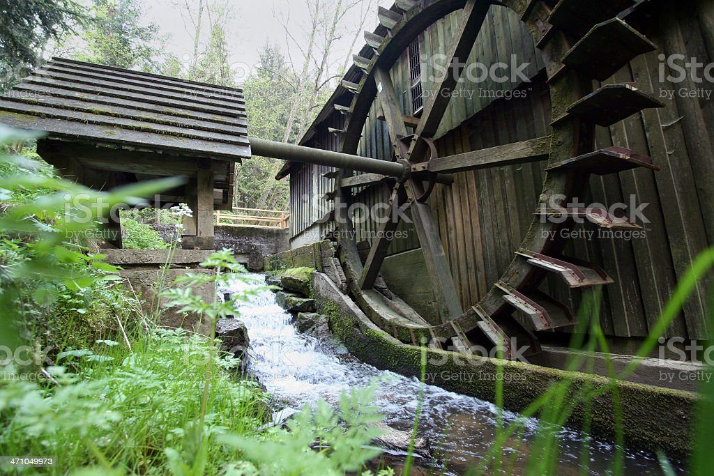 old watermill royalty-free stock photo
