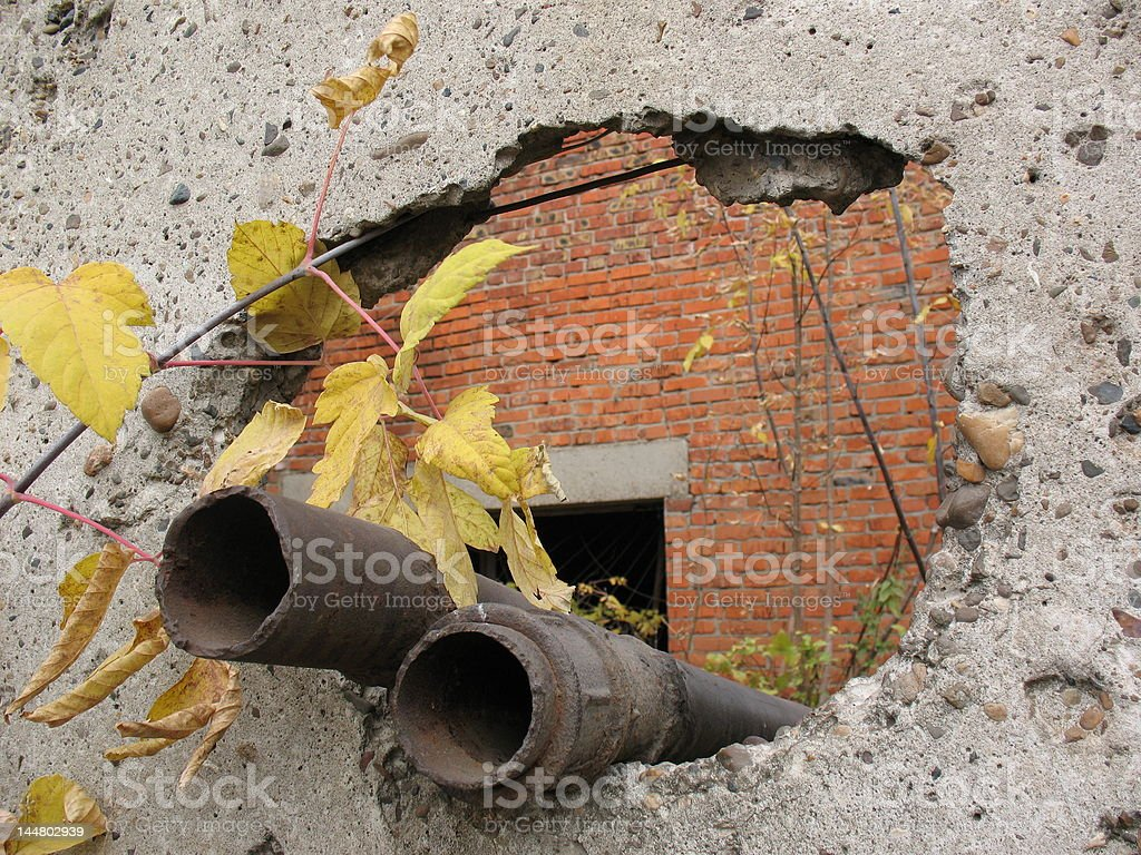 Old water-pipes. royalty-free stock photo