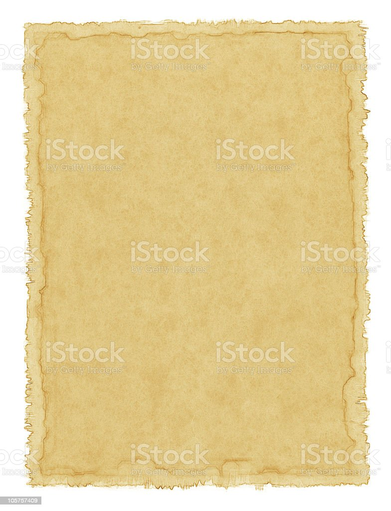 Old Water-stained Paper royalty-free stock photo