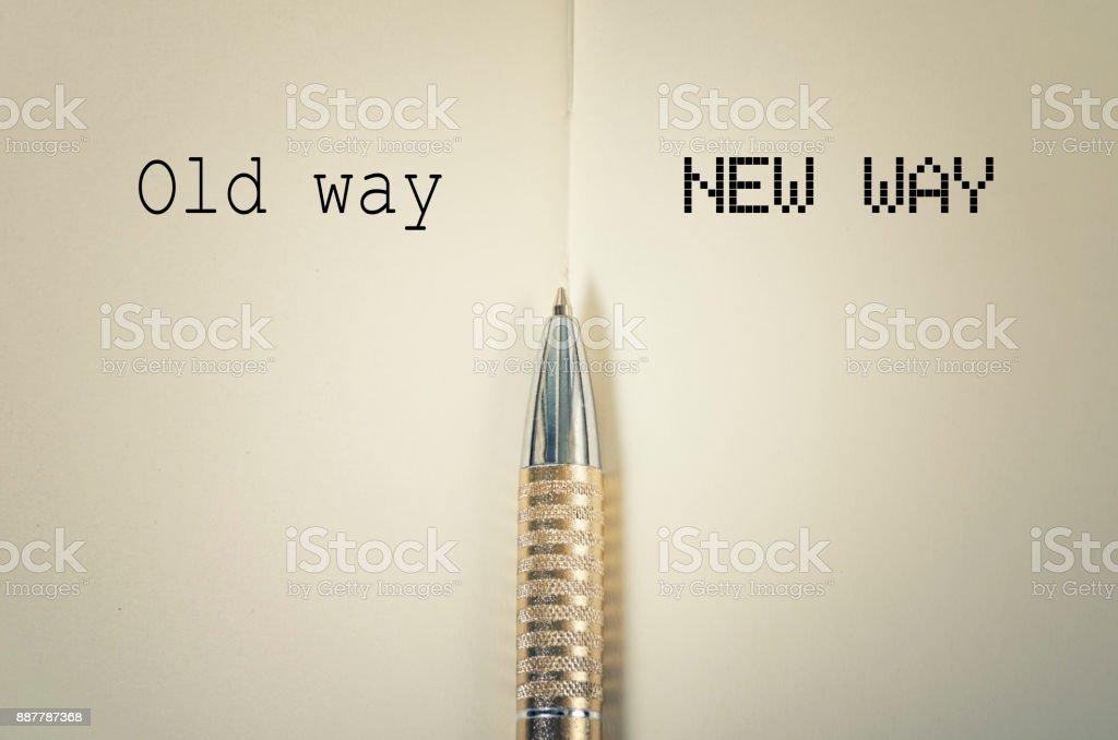 Alte und neue Weg – Foto