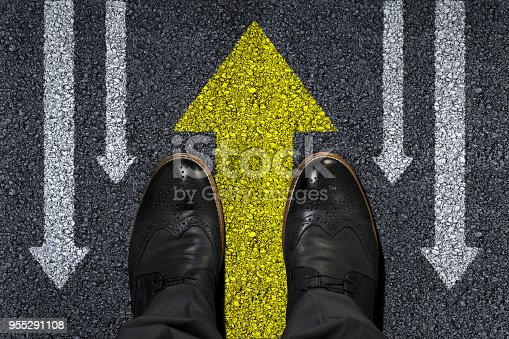 628616360 istock photo Old Way or New Way Concept in Business 955291108