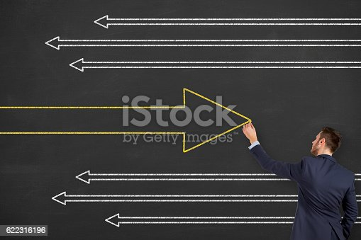 istock Old Way or New Way on Chalkboard 622316196
