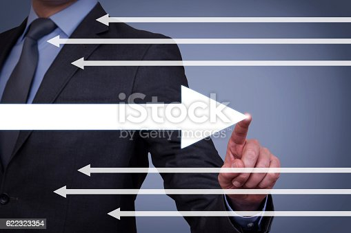 istock Old Way or New Way on Visual Screen 622323354