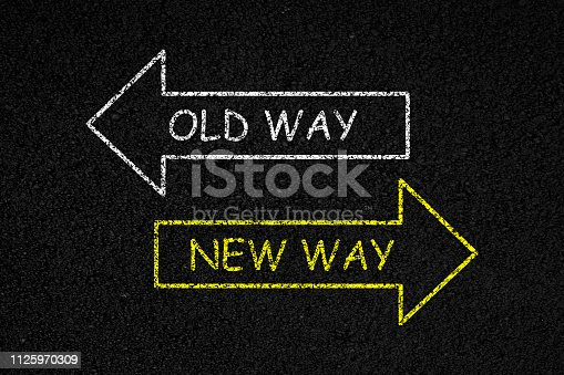 1088508096 istock photo Old way or new way 1125970309