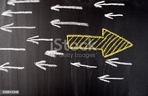Old Way or New Way on blackboard