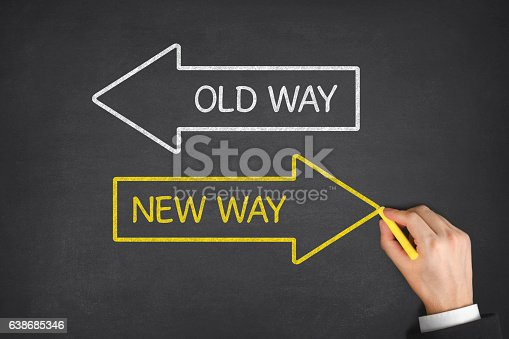 istock Old Way or New Way 638685346