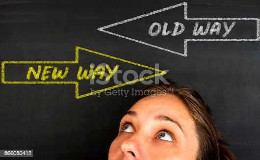 628616360 istock photo Old Way or New Way 866080412