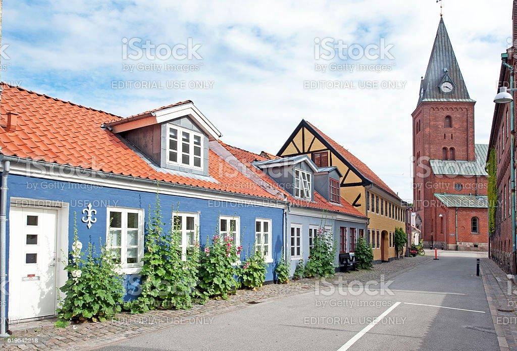 Old ways, Aalborg, Denmark stock photo