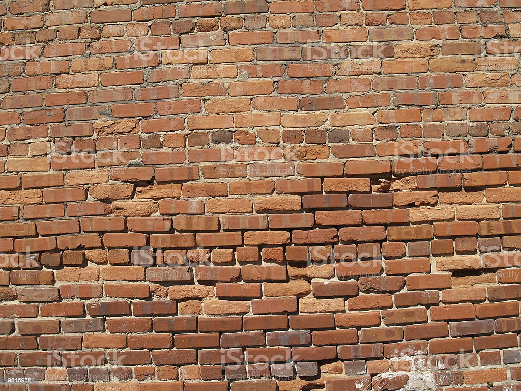Old Weathered Brick Wall royalty-free stock photo