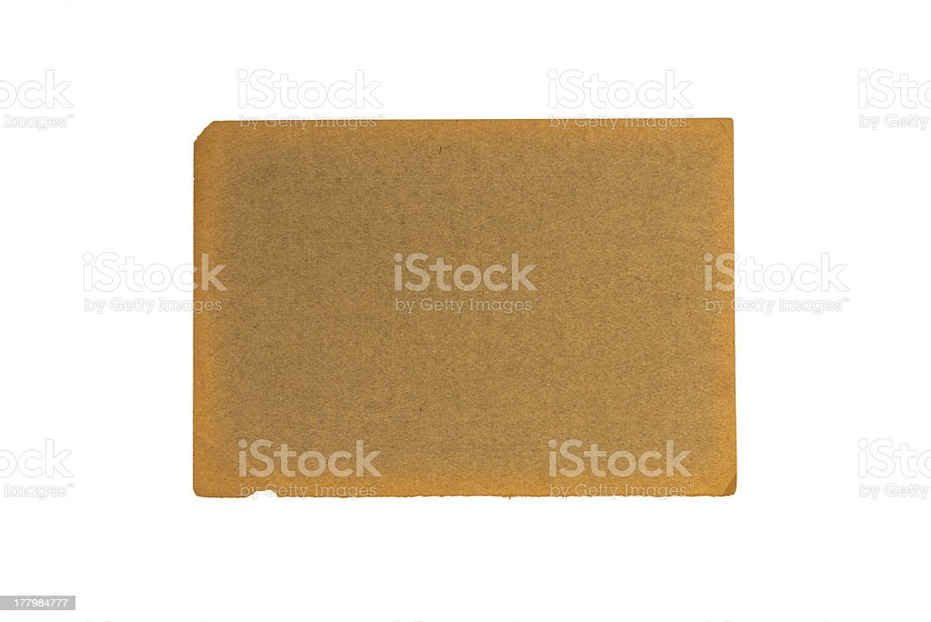 Old weathered brown paper royalty-free stock photo