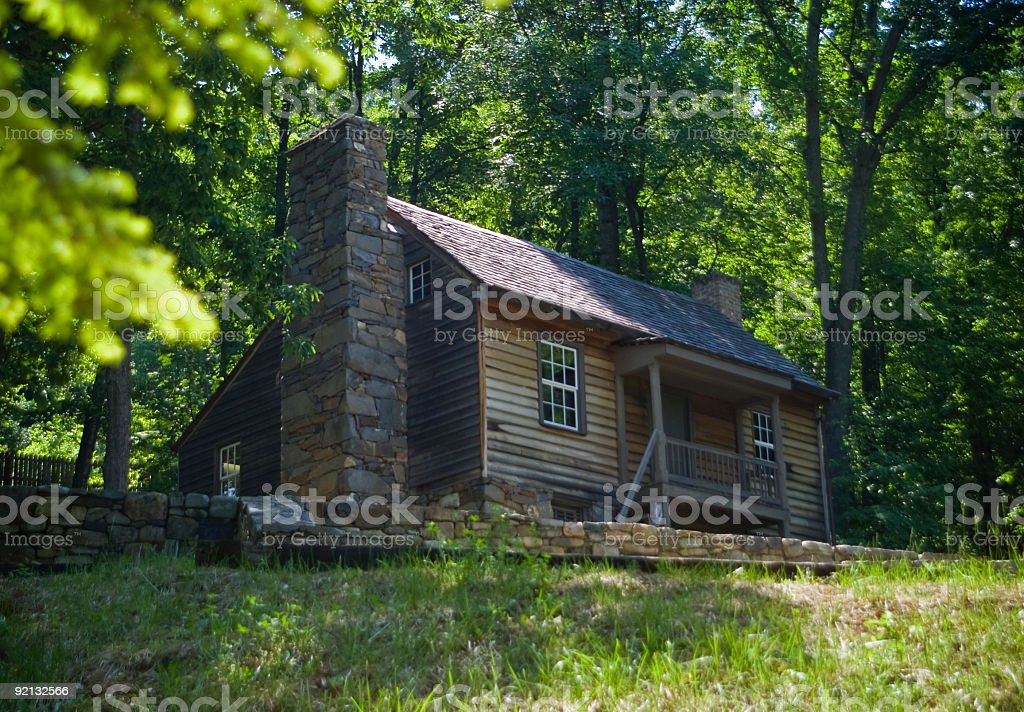 Old Weathered Cabin in the Woods Central Virginia royalty-free stock photo