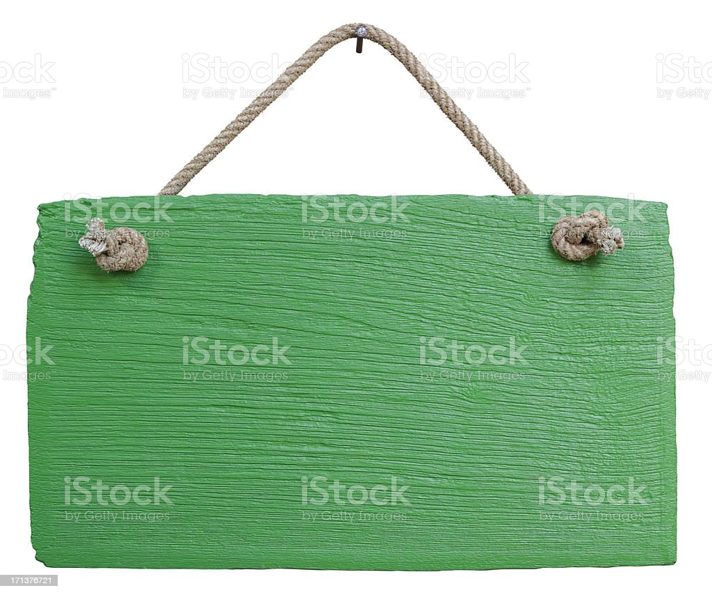 Old weathered green wood signboard. royalty-free stock photo