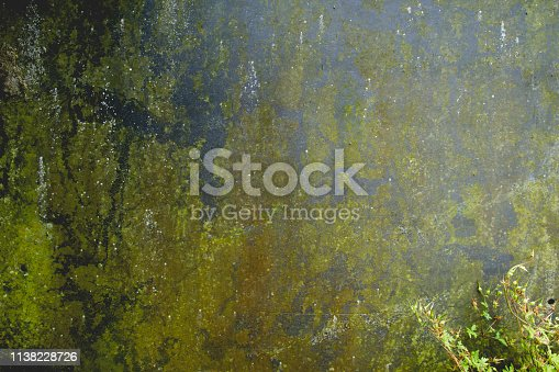 Old distressed and rusty metallic wall, grungy background or texture