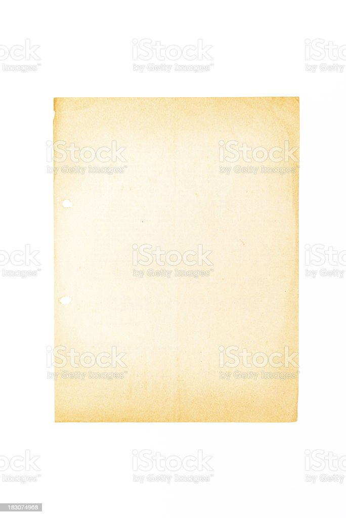 Old weathered paper sheet royalty-free stock photo