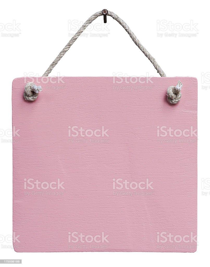 Antiga placa de madeira envelhecida cor-de-rosa. - foto de acervo