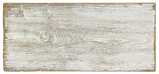 Old Weathered White Textured Wood Panel Background Isolated On White With Clipping Path Stock Photo - Download Image Now