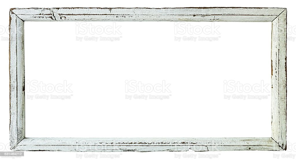 Old Weathered White Wood Frame Stock Photo & More Pictures