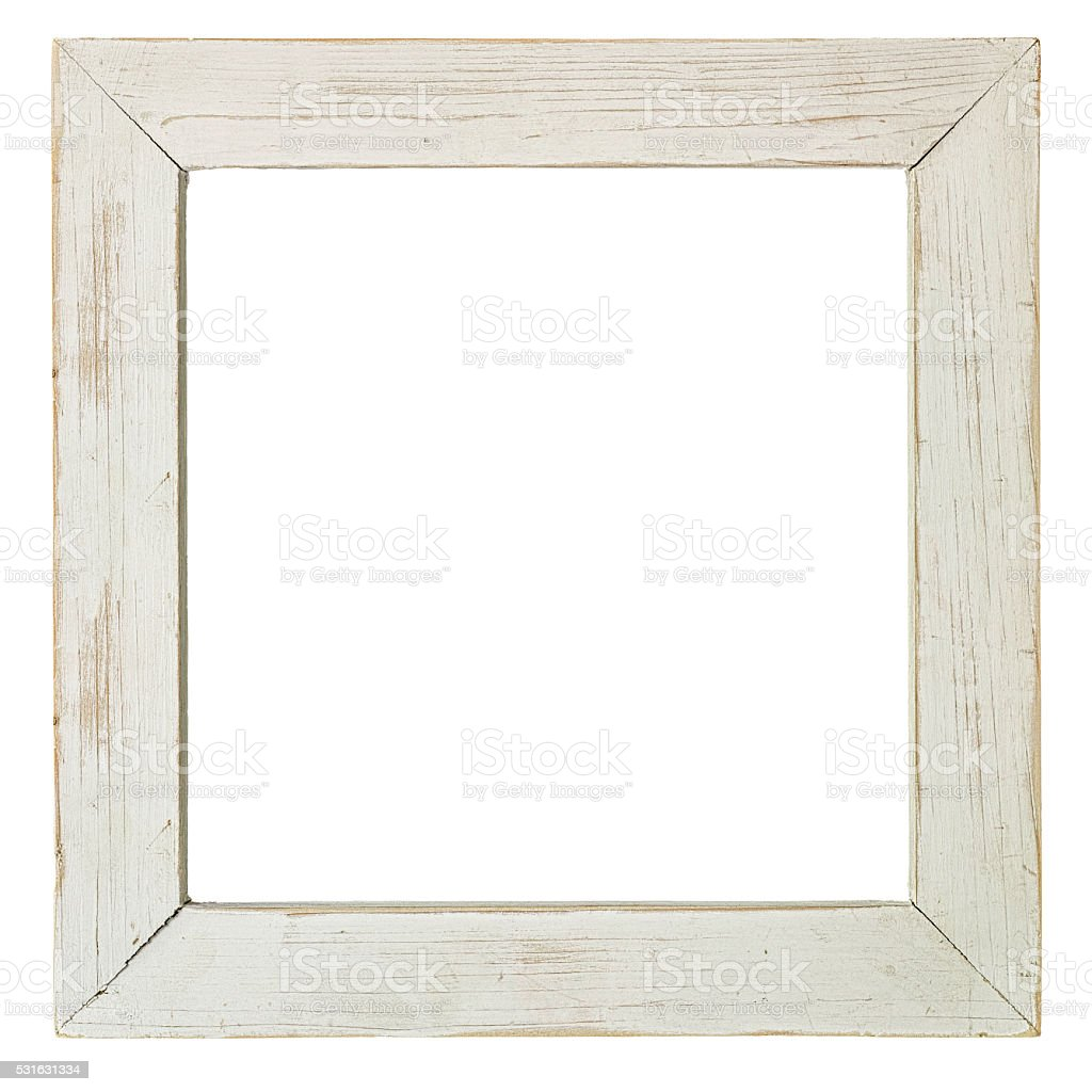 old weathered white wood frame - White Wood Frame