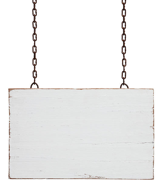 old weathered white wood signboard. - 標誌 個照片及圖片檔