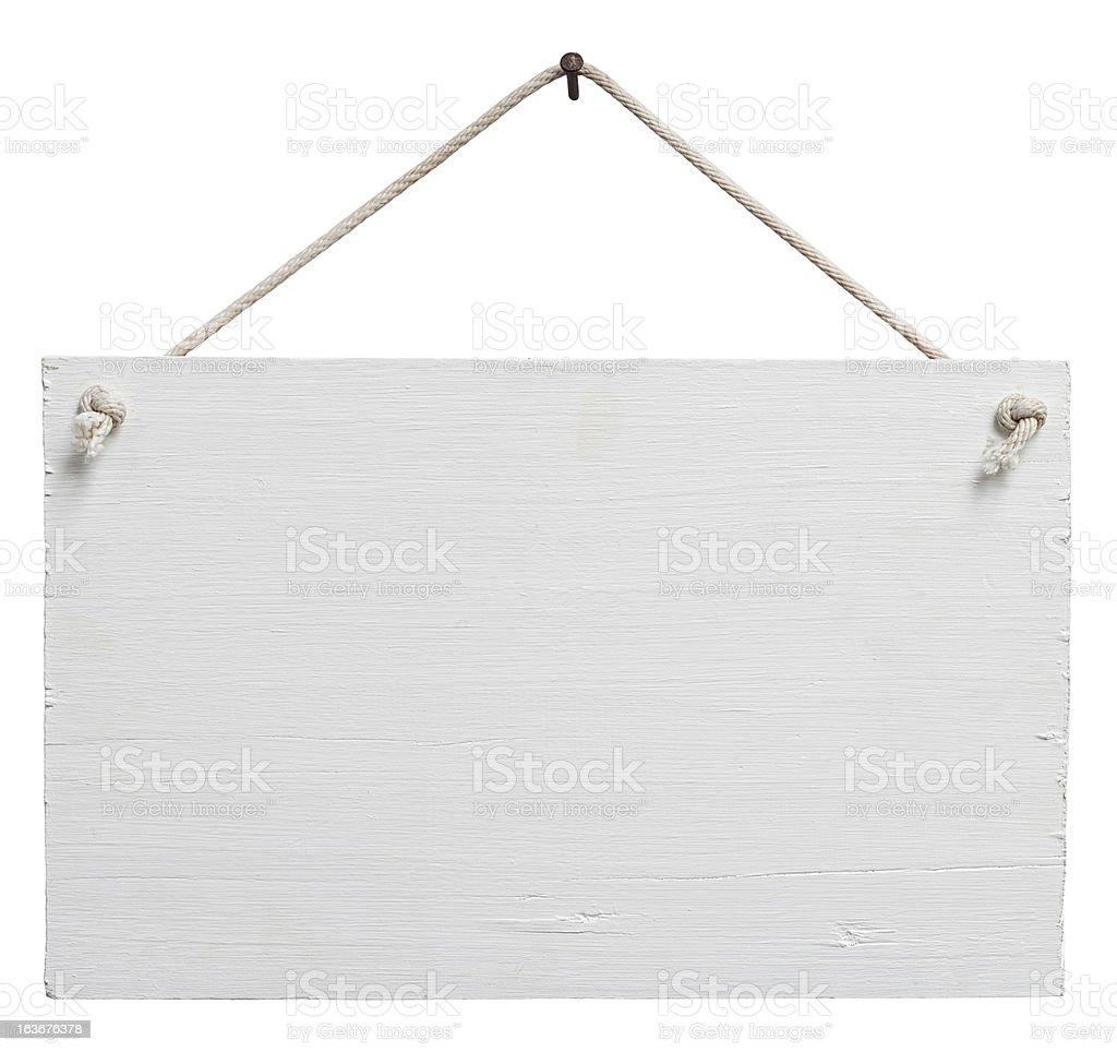 Ancien panneau en bois blanc patiné. - Photo