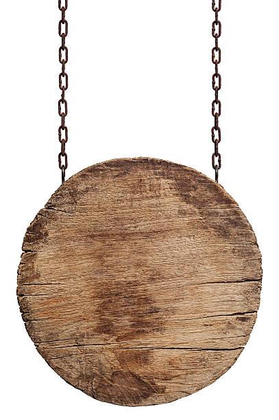 Vecchia insegna in legno invecchiato. - foto stock