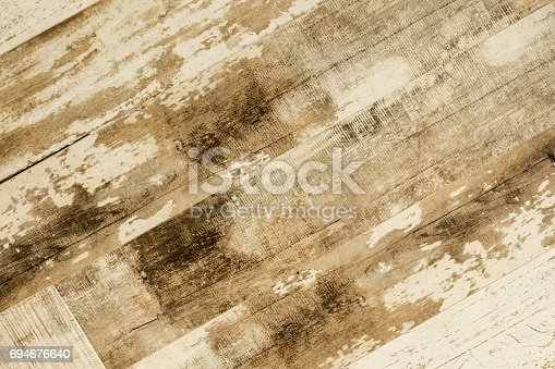 istock Old weathered wood texture 694676640