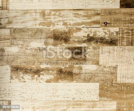 istock Old weathered wood texture 694676646