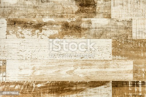 istock Old weathered wood texture 694676648