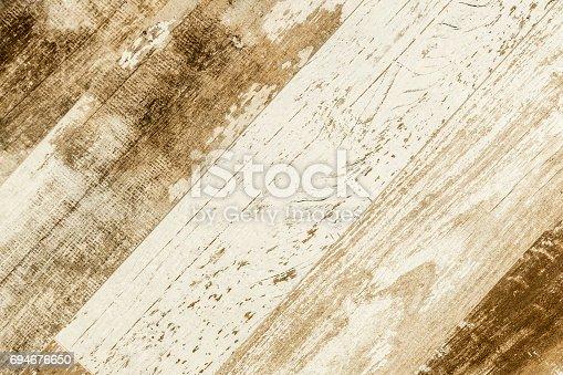 istock Old weathered wood texture 694676650