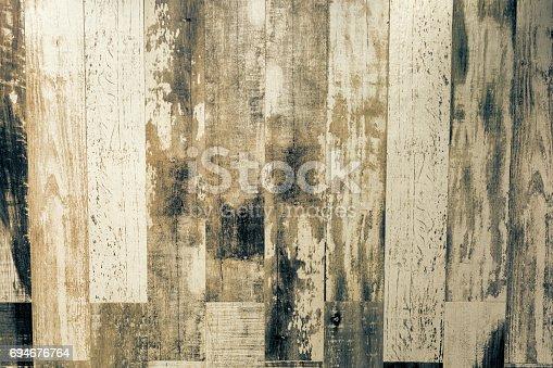 istock Old weathered wood texture 694676764