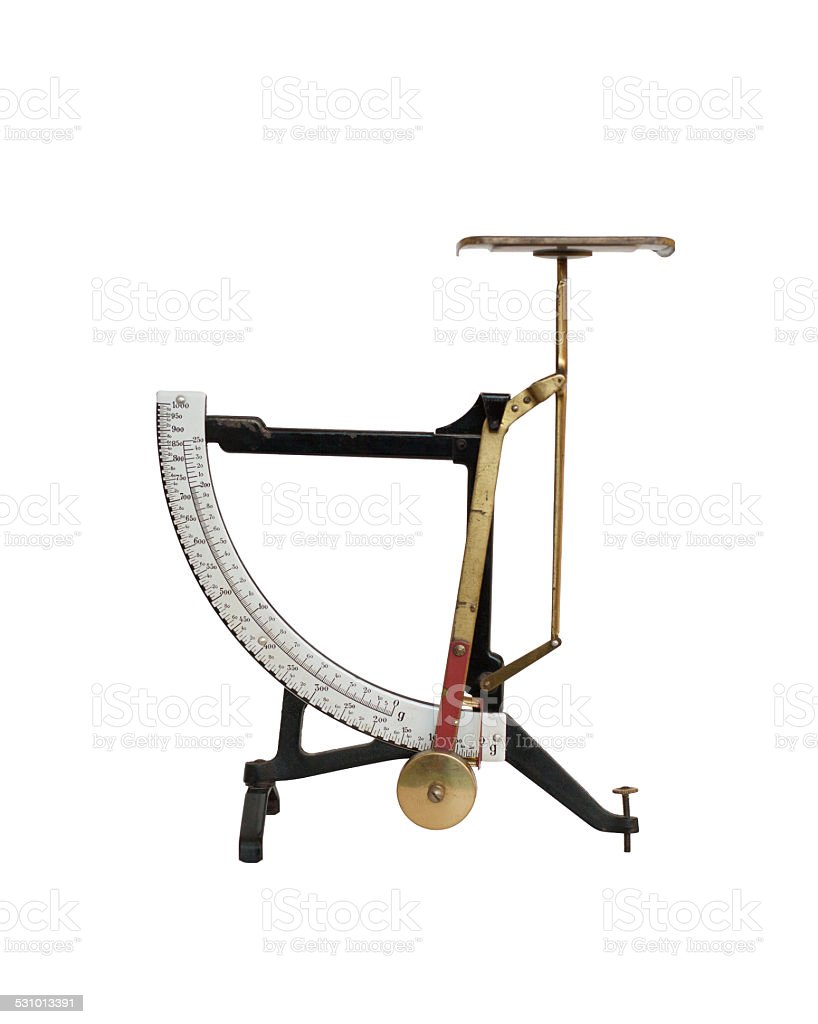 Old weight scale stock photo