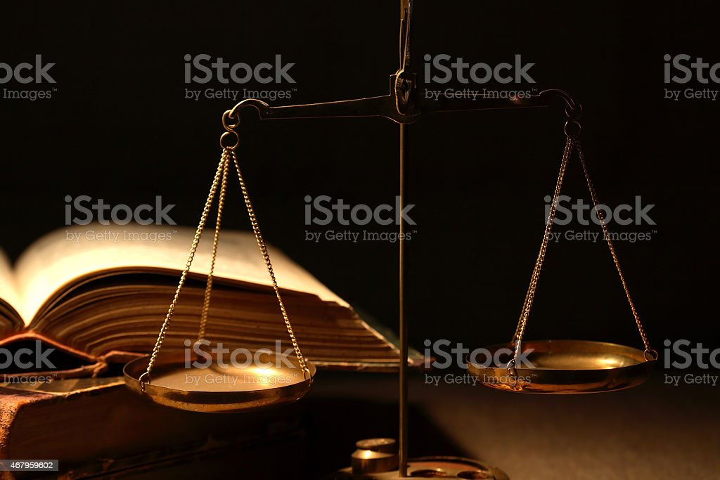 Old Weight Scales stock photo