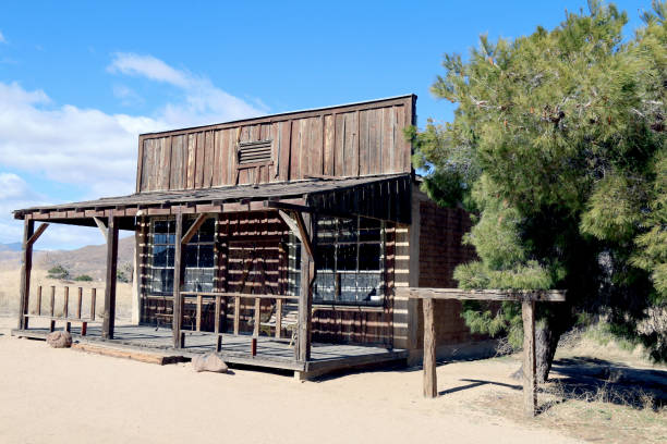 old west abandoned ghost town shop building stock photo