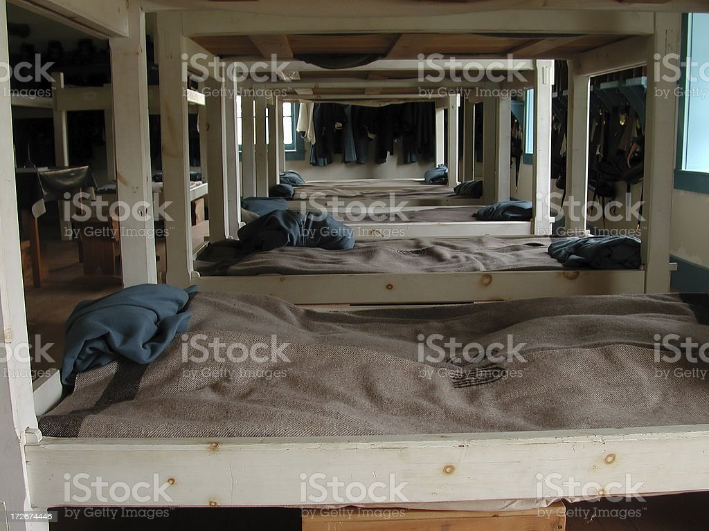 Old West Army Barracks stock photo