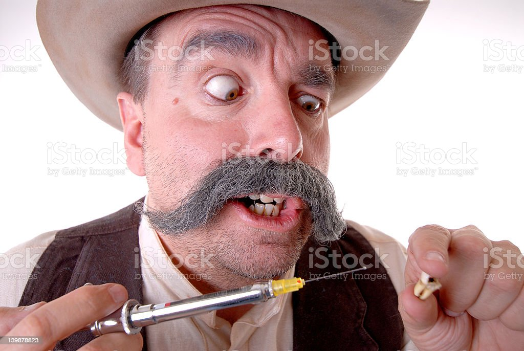 Old West Dentist stock photo