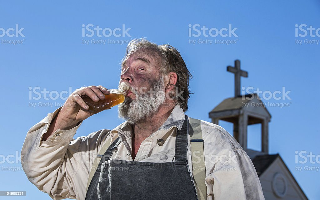 Old West Drunk Drinks stock photo