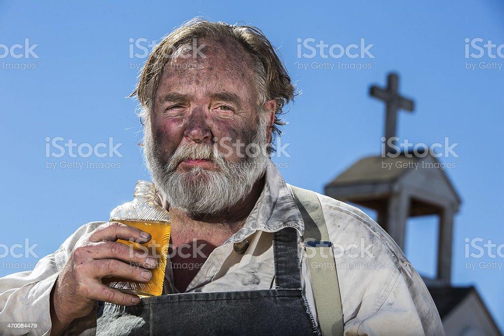 Old West Drunkard Drinks stock photo