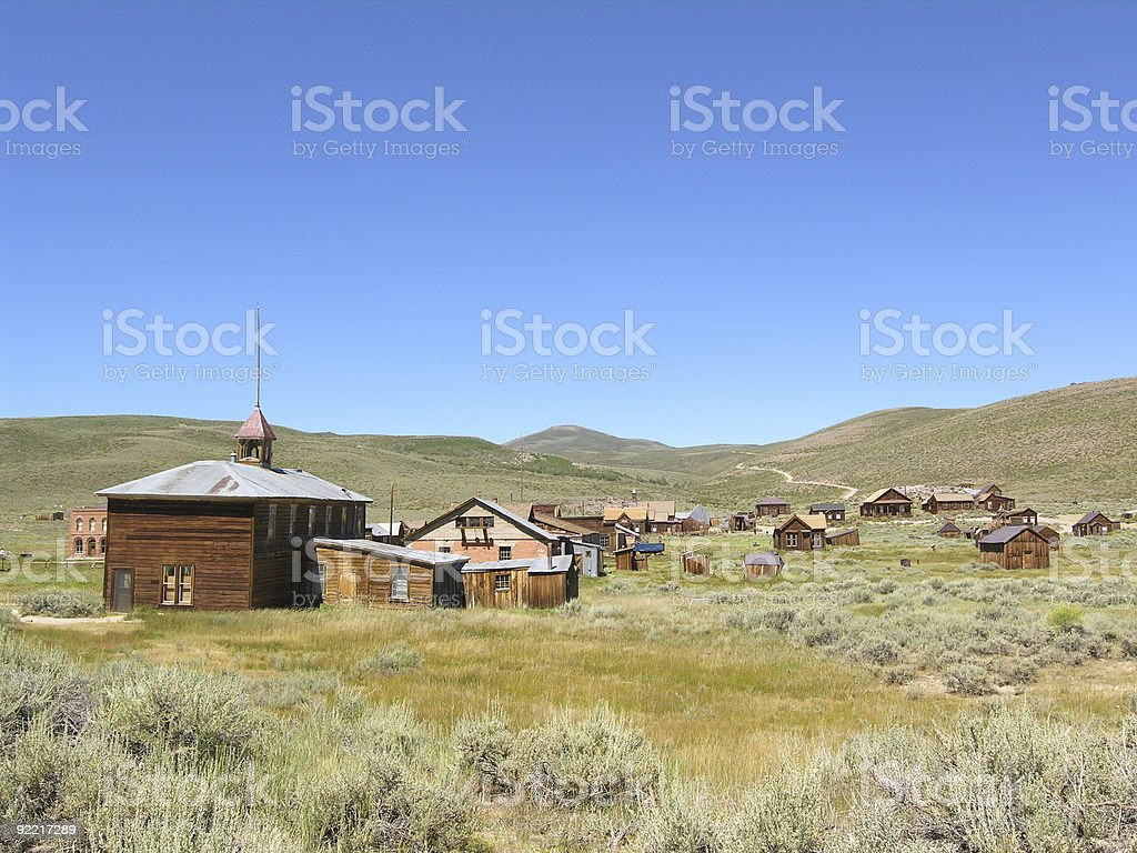 Old West Ghost Town - Bodie State Park, California stock photo